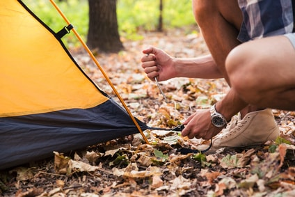 After camping, pack your tent properly