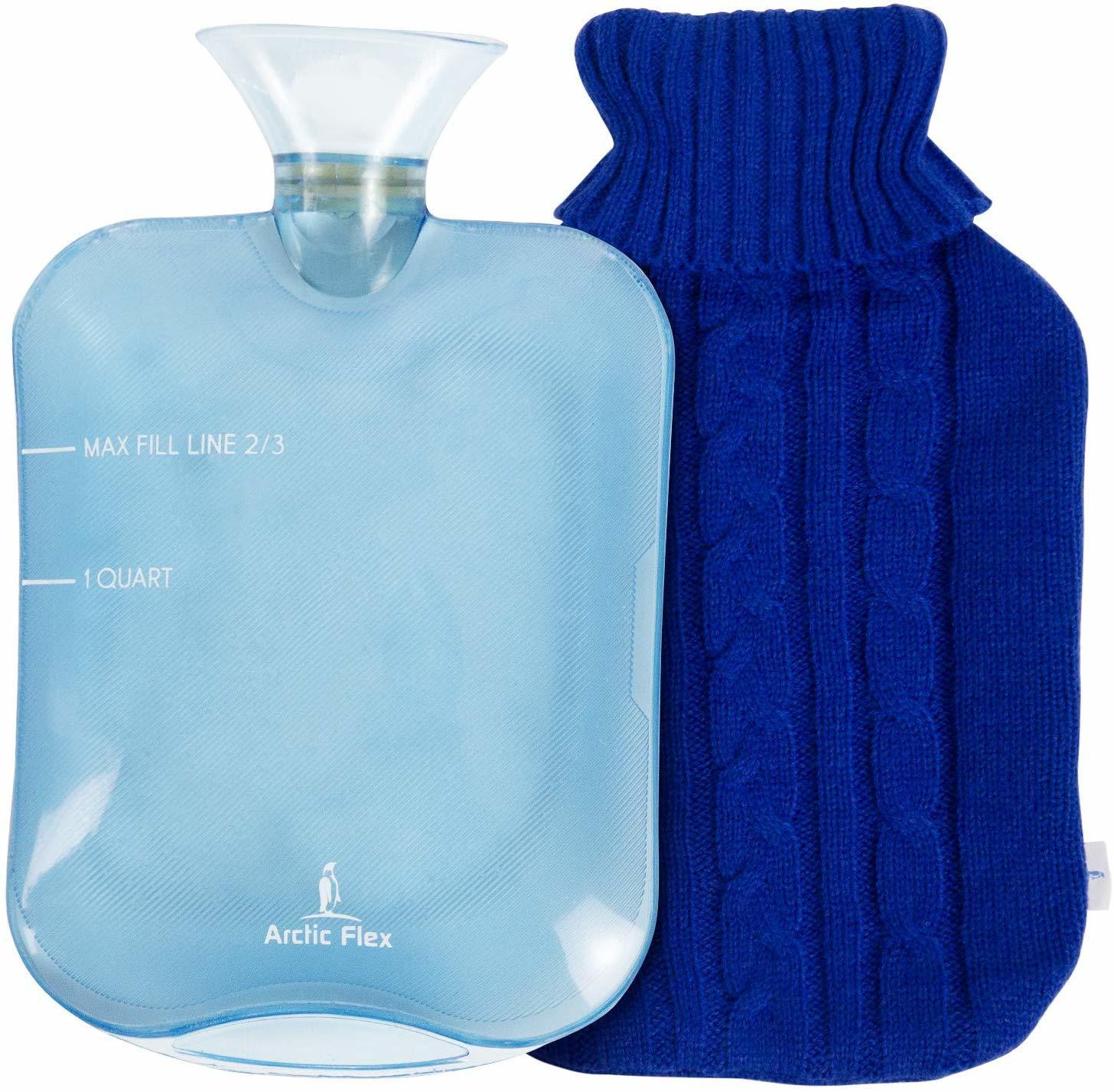 blue hot bottle